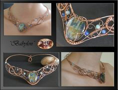 Babylon- wire wrap necklace by mea00.deviantart.com on @deviantART
