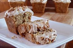 Zucchini Bread with Cream Cheese Frosting