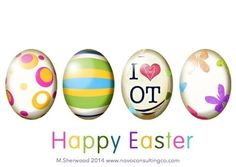 Hap Hap Happy Easter. Sending lots of OT love your way. Please feel free to share, tag, post, use in efforts to advocate for our incredible profession! Sending lots of occupational therapy love your way theotsiproject #HappyOTMonth #April2014