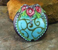 LOVE Amy Singleton Kuczewski's beads!  Mehndi Lentil Naavarasi by flamekeeper.. just so beautiful! http://www.etsy.com/listing/103072861/mehndi-lentil-naavarasi?utm_source=Pinterestutm_medium=PageToolsutm_campaign=Share