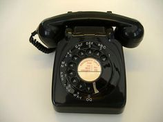 This was the only kind of phone we had.