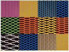 Durch Lochblech in unterschiedlichsten Farben können Akzente gesetzt werden.