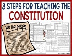 Constitution worksheets 5th Grade Social Studies, Social Studies Classroom, Teaching Government, Academic Vocabulary, Formative Assessment, Reading Activities, Graphic Organizers, Constitution