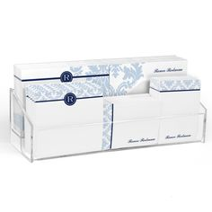 Blue Damask Post-it® Notes Ensemble