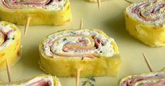 Un fingerfood delizioso , perfetto per buffet e feste di compleanno di bimbi, le crepes spalmate con formaggio alle erbe e mortadella saranno gustoissime