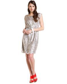 Max & Cleo 'Reiley' Cream Print Asymmetrical Dress