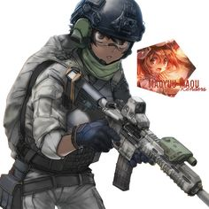 Image result for anime boy gun weapons boy military