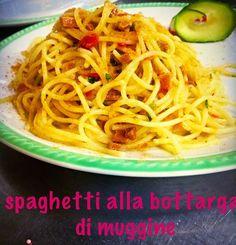 Spaghetti alla bottarga di muggine proveniente dal paese Cabras... Un piatto immancabile della tradizione sarda