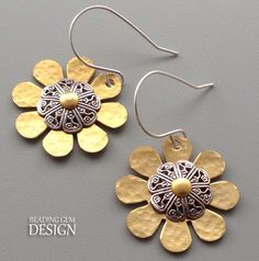 How to Use a Center Finder to Make Riveted Earrings ~ The Beading Gem's Journal