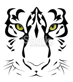 Tigers Eyes And Stripes Royalty Free Stock Vector Art