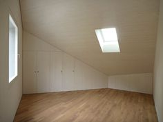 sloped ceiling / roof window