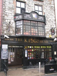 "Kings Head, great bar/venue in beautiful medieval building in Galway, Ireland...this is where we hosted our ""Americans in Galway"" Obama inauguration party in January 09"