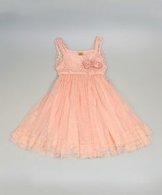 This Pink Crocheted Bodice Tulle Dress - Toddler & Girls by Mia Belle Baby is perfect! #zulilyfinds