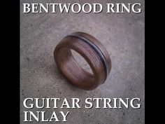 Guitar String Inlay for Bentwood Ring - YouTube