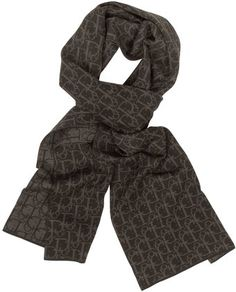 Dior Woven Signature Wool Scarf - Lyst