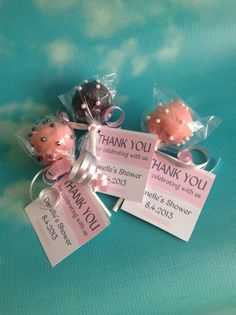 Bridal shower cake pops blush and gray