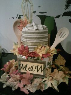 """Fall Bridal Shower """"Cake""""- took all day to make but it was well worth it!"""