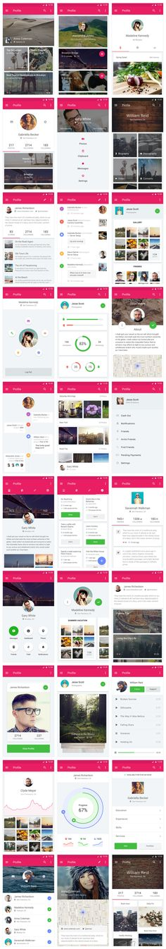 Material UI Kit - Profiles