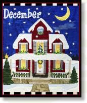DECEMBER Christmas Holiday House appliqué quilt patterns designed by Debra Gabel Of Zebra Patterns.com# quilting #appliqué