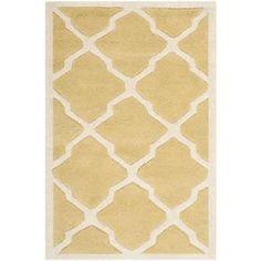 Safavieh CHT735L Chatham Wool Hand Tufted Light Gold/Ivory Rug