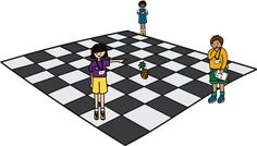 Students standing around a large checkerboard grid. Computer Programming, Computer Science, Computational Thinking, Unit Plan, Thinking Skills, Math Games, Lesson Plans, Outdoor Blanket, Challenges