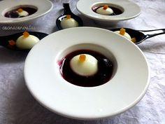 COCINA CON VISTAS: Perlas de Yogurt sobre Sopa Fría de Arándanos Azul...
