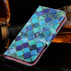 Luxury Flower PU Leather Case For iPhone 6 Plus iPhone 6S Plus Case Card Slot Flip Wallet Stand Back Cover Case