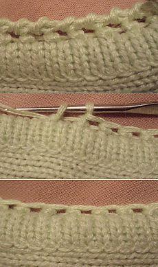 Уроки вязания... обработка края... мастер-класс....