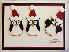 The Owl Builder punch is my all time favorite punch! So cute, so versatile! Owl Christmas card