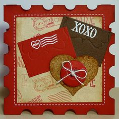 A similar look can be created with Spellbinders Postage Stamp die!