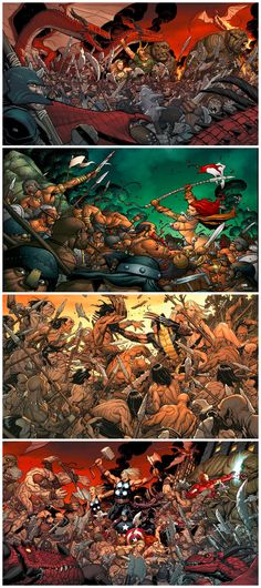 Frank Cho Battle Scenes