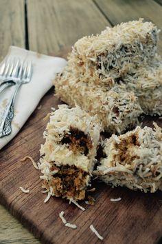 Carrot Cake Lamingtons