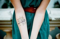abstract inner arm bird for women - The Sexy Impression of the Inner Arm Bird Tattoos – Popular Tattoo Ideas