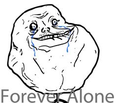 Forever alone: мем, комиксы, картинки с Forever alone guy