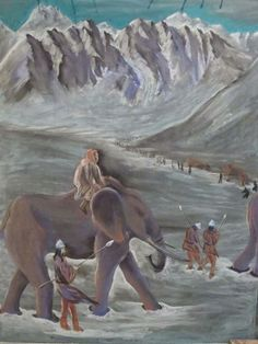 Waldorf School on the Roaring Fork Yet another amazing chalk drawing by Matt Johnson our 6th grade teacher; Hannibal's crossing of the Alps, 218 BC, considered to be one of the major achievements of the Second Punic War.