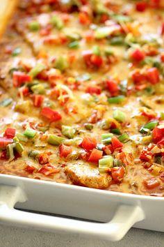 Easy Honey Garlic Pork Chops Recipe: Fiesta Pork Chop And Rice Bake Recipe. Mexican Pork Recipes, Easy Pork Chop Recipes, Mexican Dishes, Pork Chop Meals, Rice Bake Recipes, Cooking Recipes, Budget Recipes, Recipes With Pork Chops And Rice, Pork Chops With Rice