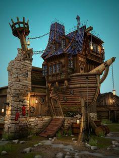 part ship, part treehouse