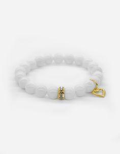 Bracelets / wedding / jewlery / natural stone / white / love / heart / details / gold Wedding Bracelet, Love Heart, Natural Stones, Jewlery, Beaded Bracelets, Detail, Gold, Wedding Wristlet, Heart Of Love