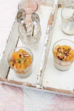 Quinoa Pudding with Vanilla-Peach Compote