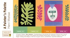 An early figure in the Modernist Art movement in France, Henri Matisse was a painter known for his bright color palette and incredible drawing skills. He began creating bold designs in the form of paper cutouts later in life, pictured here.  For Matisse's palette, use YOLO Colorhouse colors THRIVE .05, THRIVE .03, PETAL .01 & PETAL .04.