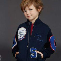 Boys zip sweater, Dolce & Gabbana at Melijoe.com.
