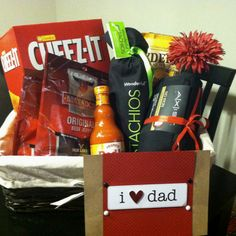Father's Day basket for the hard to shop for Dad :)