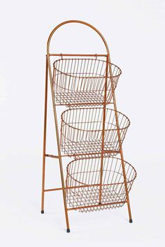 Three-Tier Basket Shelf in Copper