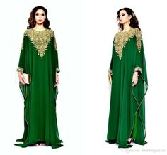 2015 Latest Handmade Beaded Long Sleeve Scoop Dark Green Evening Dress Chiffon Muslim Prom Dresses from Weddingpalace,$130.9 | DHgate.com