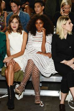 Fabulous faces are gracing the front rows of shows everywhere at NYFW spring 2016: Alexa Chung, Solange Knowles and Zosia Mamet at 3.1 Phillip Lim