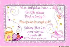 Disney princess invitation 12 isabellas 3rd bday princess glass slipper birthday invitation princess pampering party stopboris Images