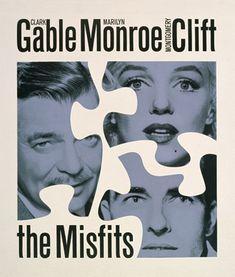 "Don Ervin, Poster art for the 1961 film ""The Misfits."""
