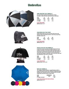 Golf Umbrellas -Custom printed golf umbrellas as giveaways at your next golf tournament or golf outing event.  Browse our golf tournament gifts and awards, printed with your company, business, or organization message or logo. View all unique & low cost golf tournament gifts & logo printed giveaway items at IMPRINTGOLF.  http://www.imprintgolf.com/golf_umbrellas.htm