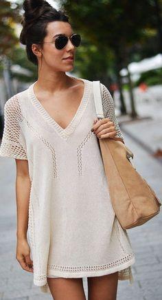 casual white mix lace shirt
