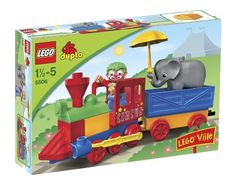 This circus train has a cargo full of fun! Here comes the colorful circus train complete with a friendly clown conductor and a baby elephant doing its umbrella act. DUPLO bricks are sturdy safe and...